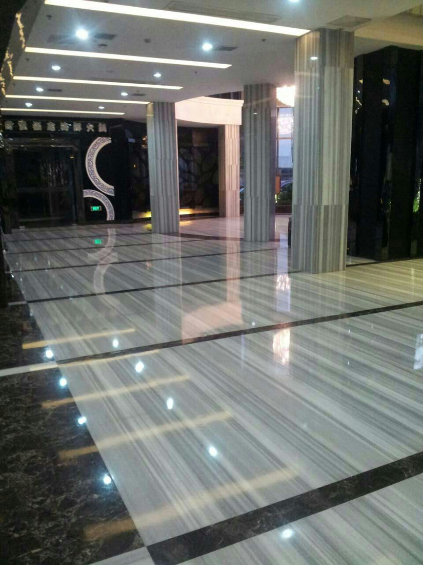 Marmara Equator Straight Line Veins White Marble Floor Tiles