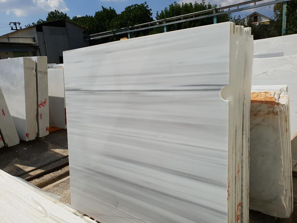 Marmara Semi White Polished Marble Slabs
