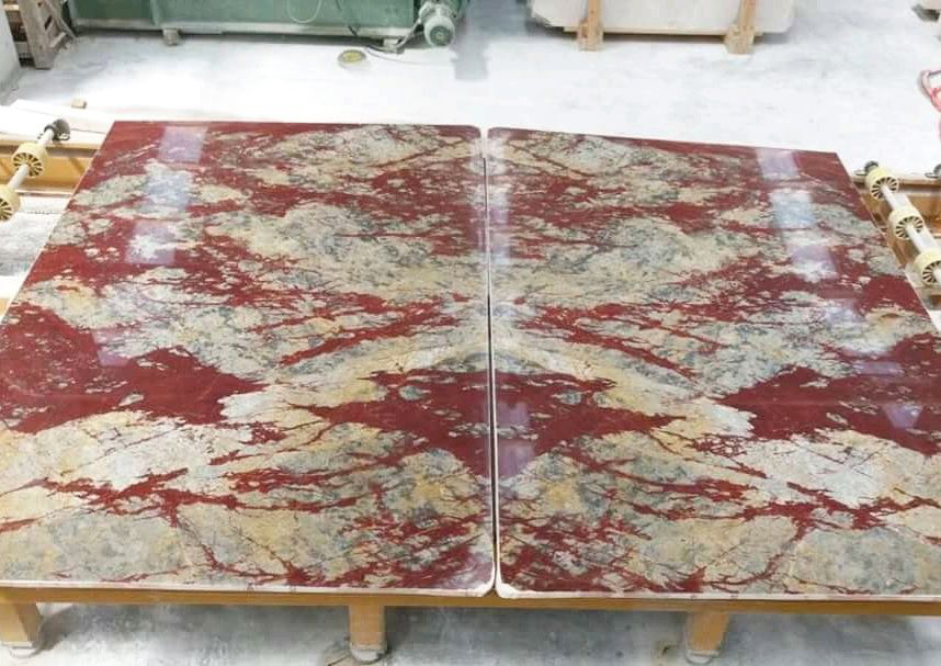 Marte Rosso Marble Slabs Polished Red Marble Stone Slabs