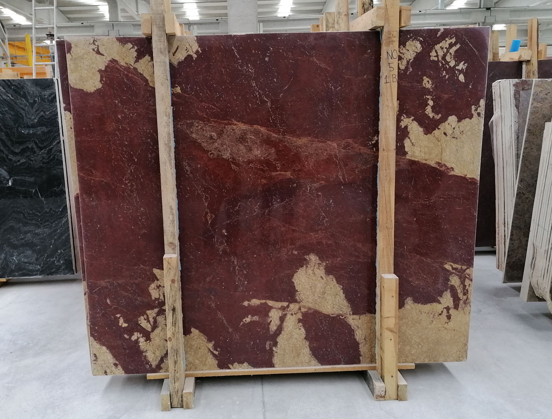 Marte Rosso Marble Slabs Turkish Red Polished Marble Slabs
