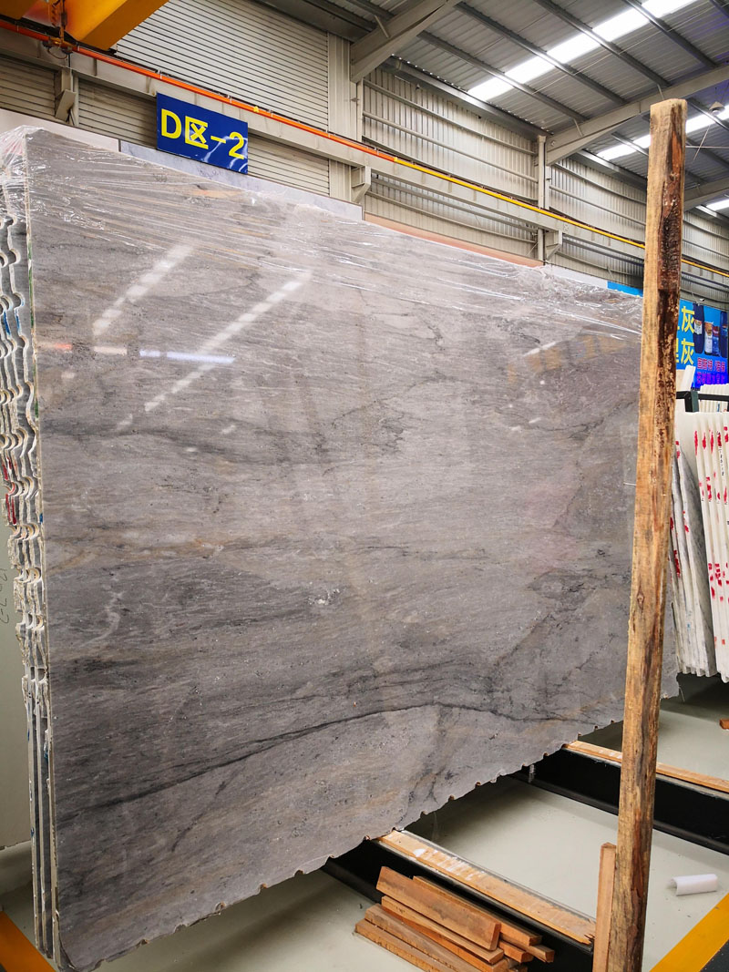 Metalic Grey Marble Slabs from Chinese Supplier