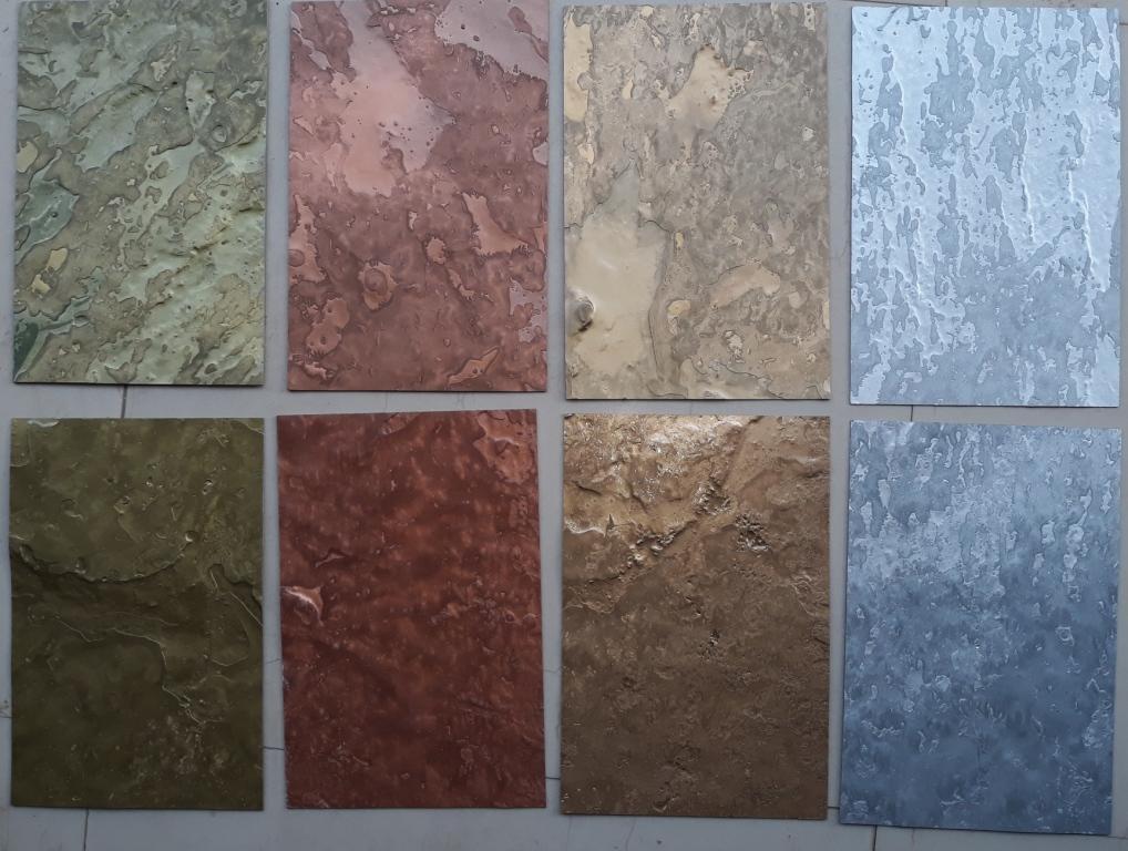 Metalic Sheets Flexible Natural Thin Stone Veneers