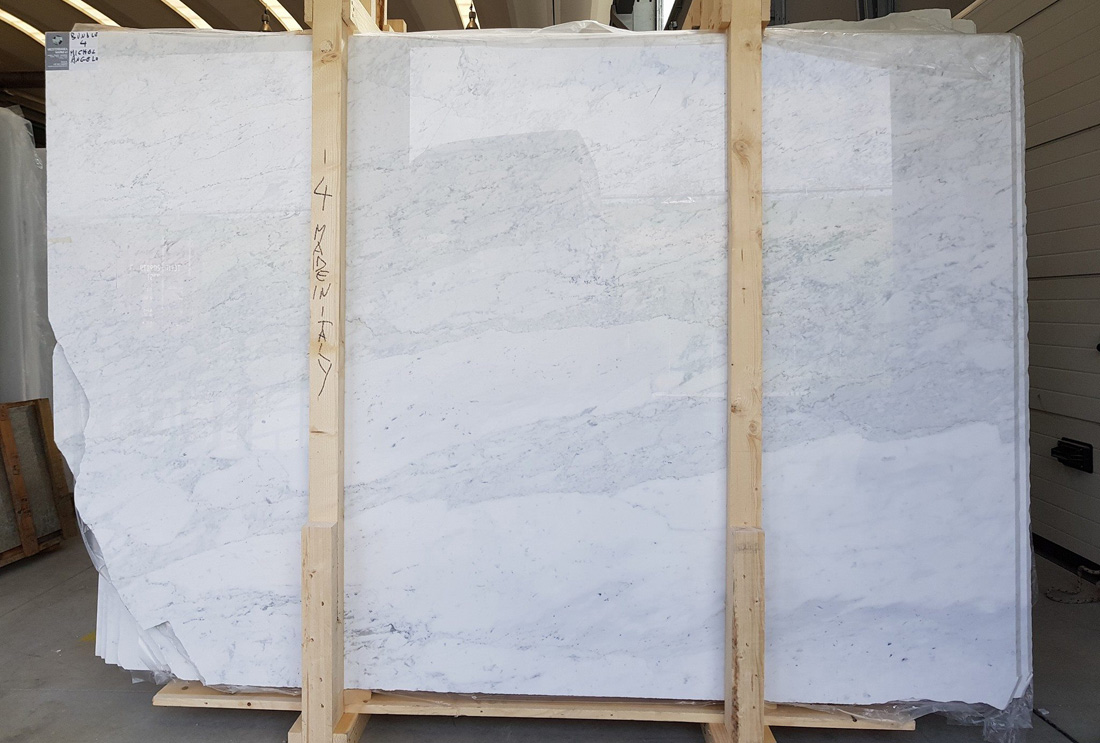 Michelangelo White Marble Slabs Polished White Slabs