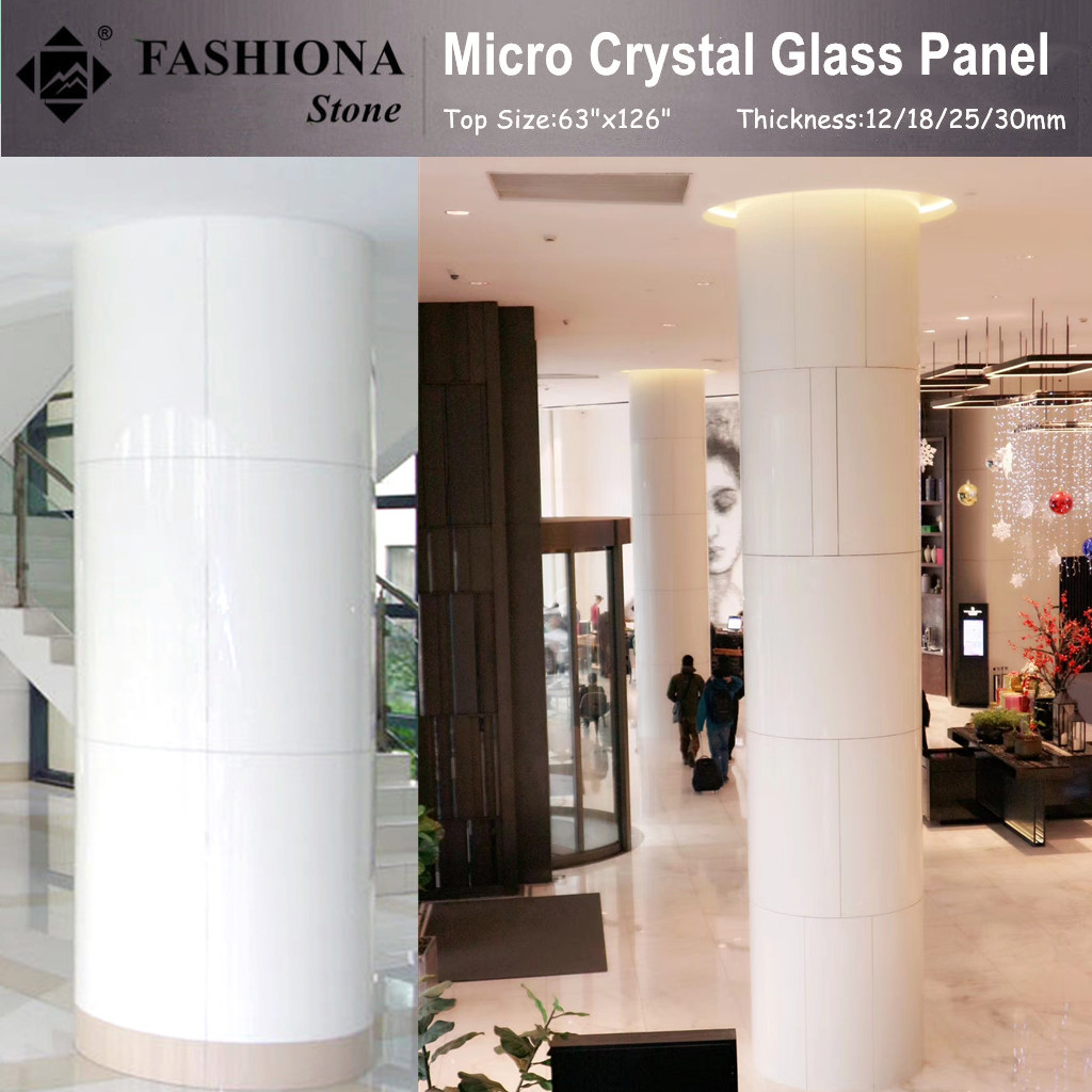 Micro Crystal Glass Stone Artificial Stone for Column