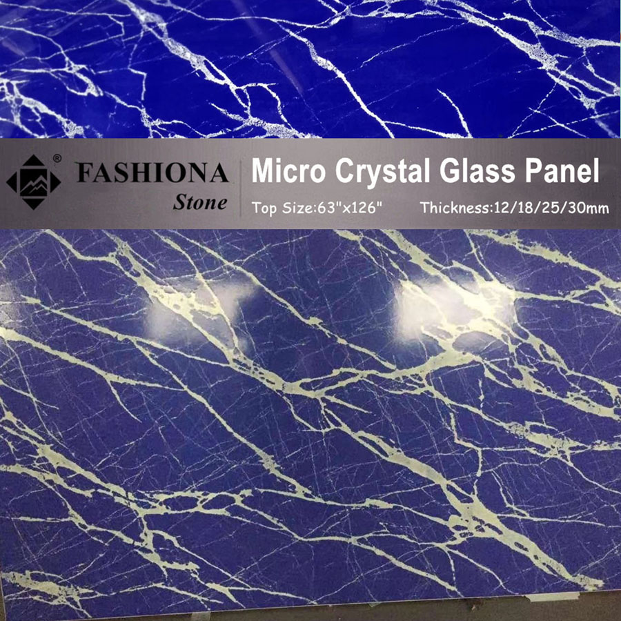 Micro Crystal Glass Stone Blue Artificial Stone