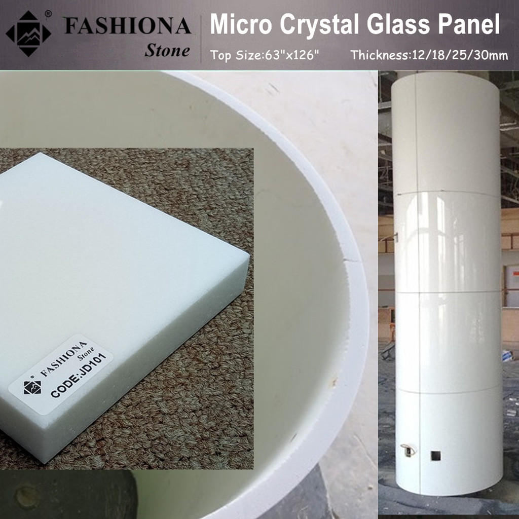 Micro Crystal Glass Stone Column