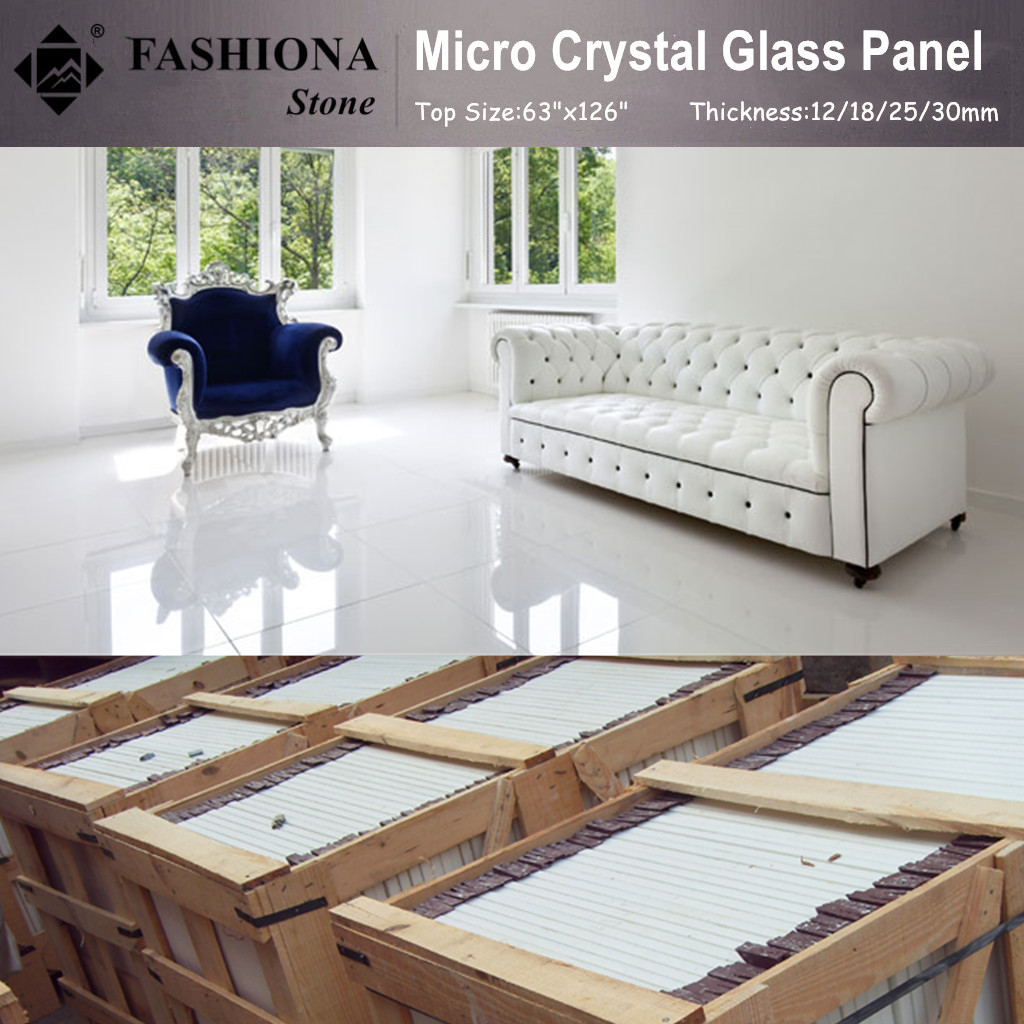 Micro Crystal Glass Stone Flooring Tiles