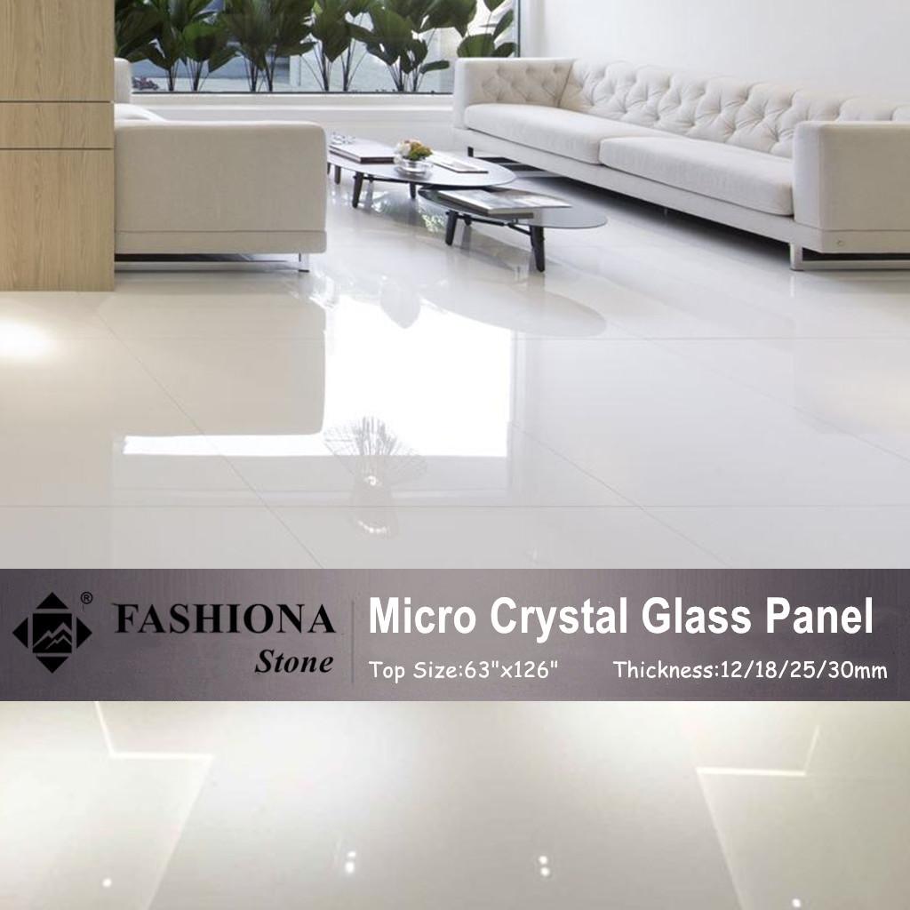 Micro Crystal Glass Stone Polished Flooring Tiles
