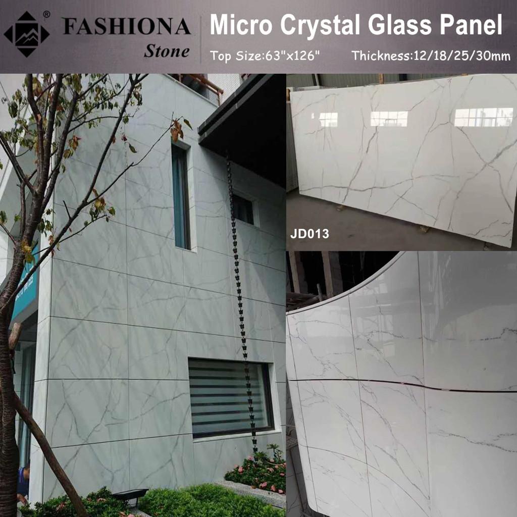 Micro Crystal Glass Stone Polished Walling Tiles