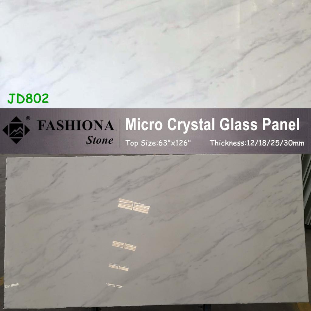 Micro Crystal Glass Stone Polished White Stone Tiles
