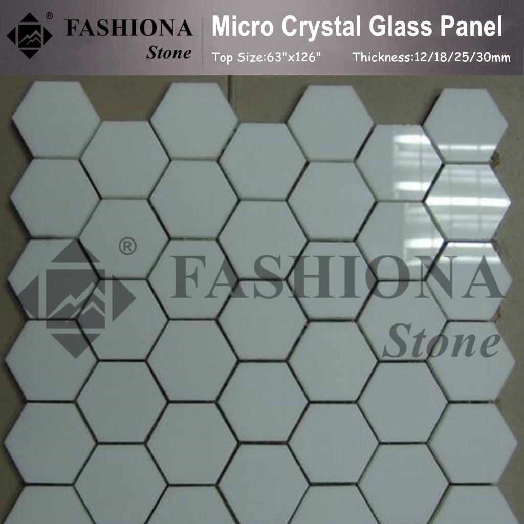 Micro Crystal Glass Stone White Mosaic Tiles