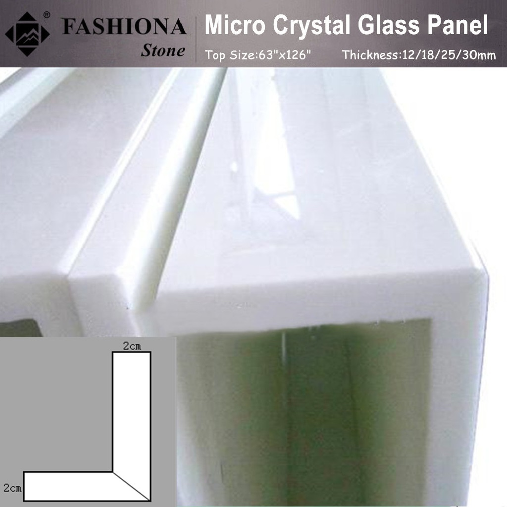 Micro Crystal Glass Stone White Polished Stone for Building