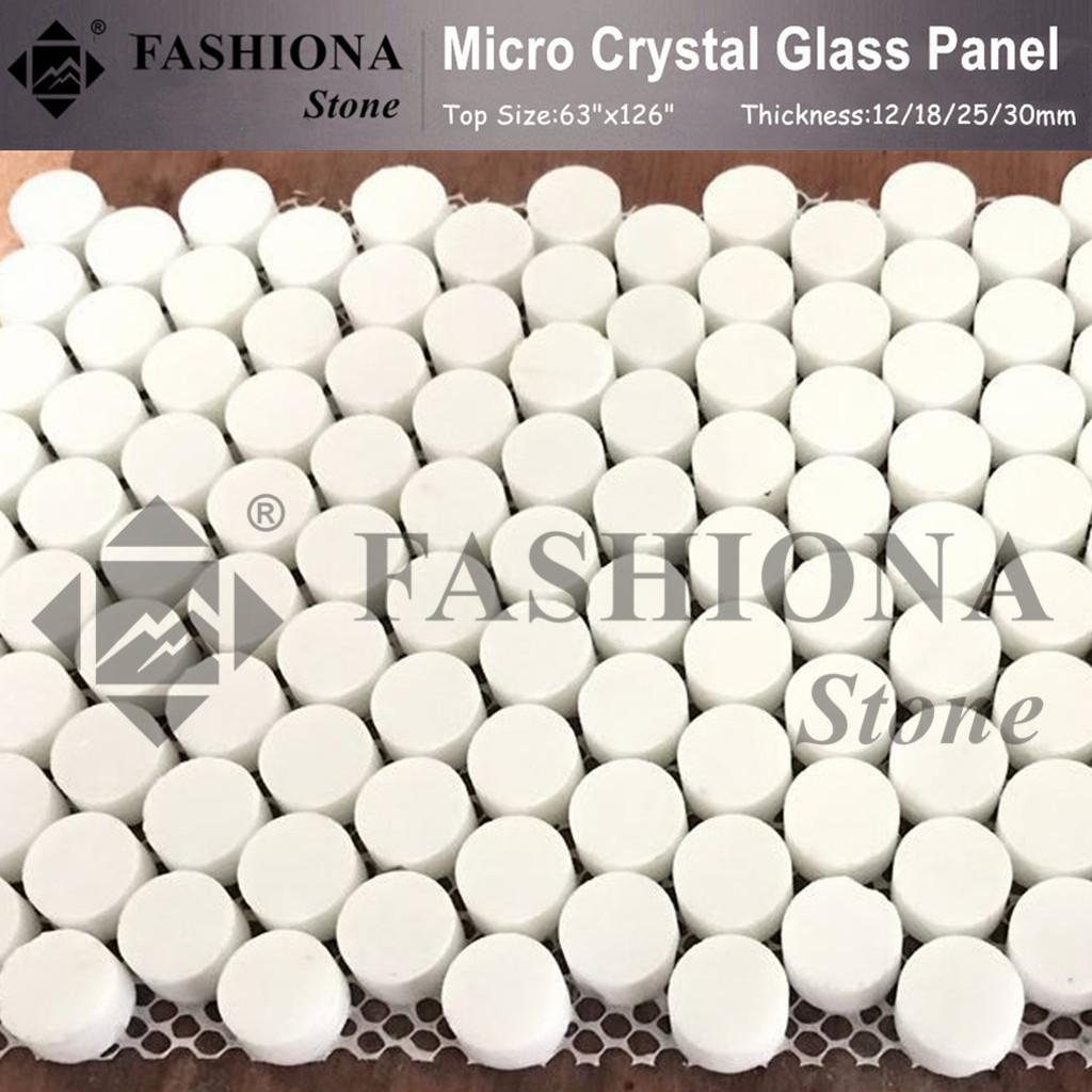 Micro Crystal Glass Stone White Stone Mosaics