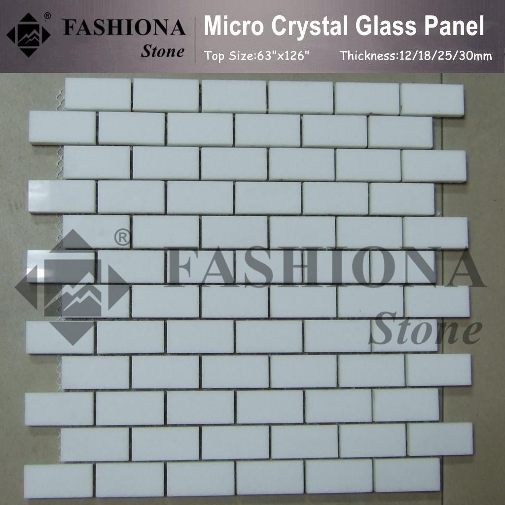 Micro Crystal Glass White Mosaic Tiles