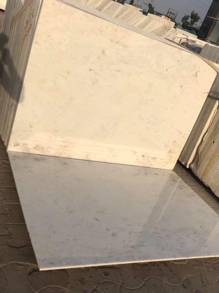 Milky White Marble Tiles White Stone Flooring Tiles