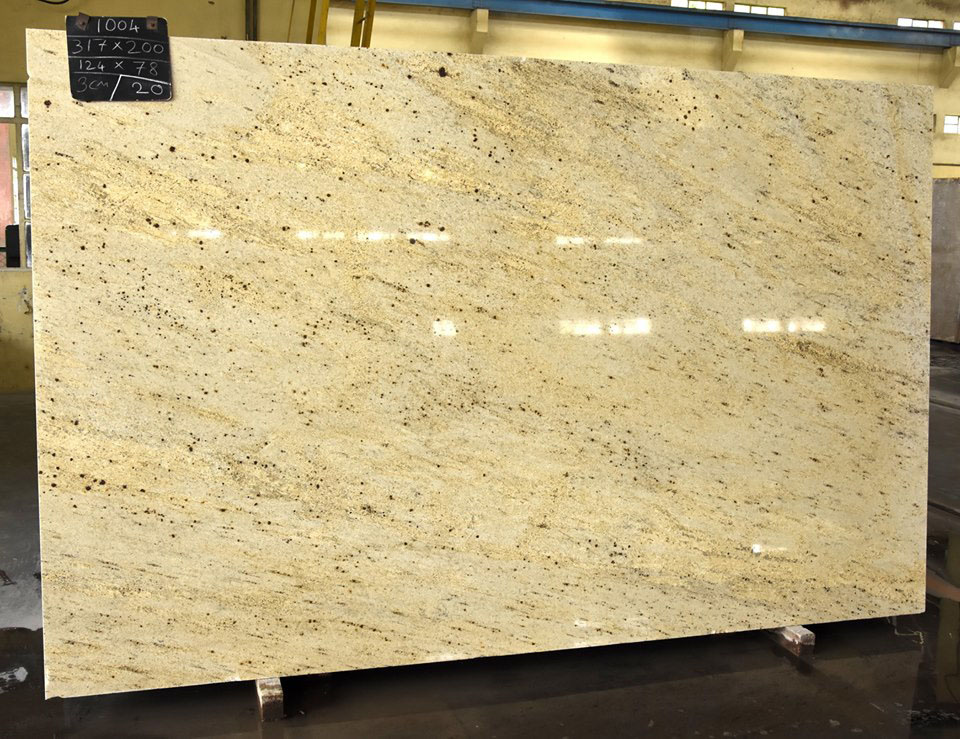 Millenium Cream Granite Yellow Polished Granite Slabs