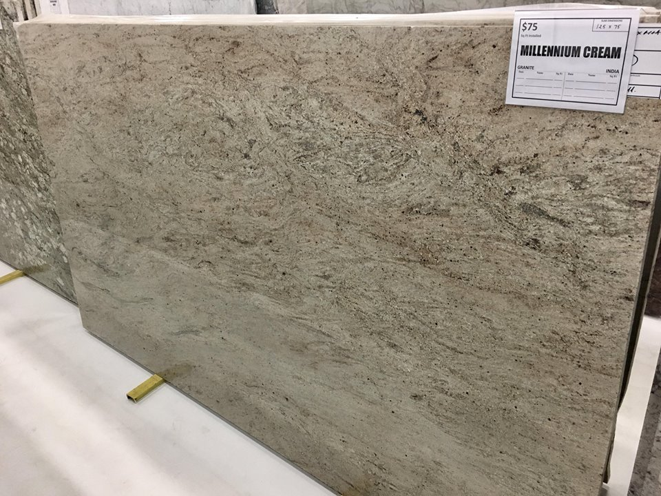 Millennium Cream Granite Polished Beige Granite Slabs