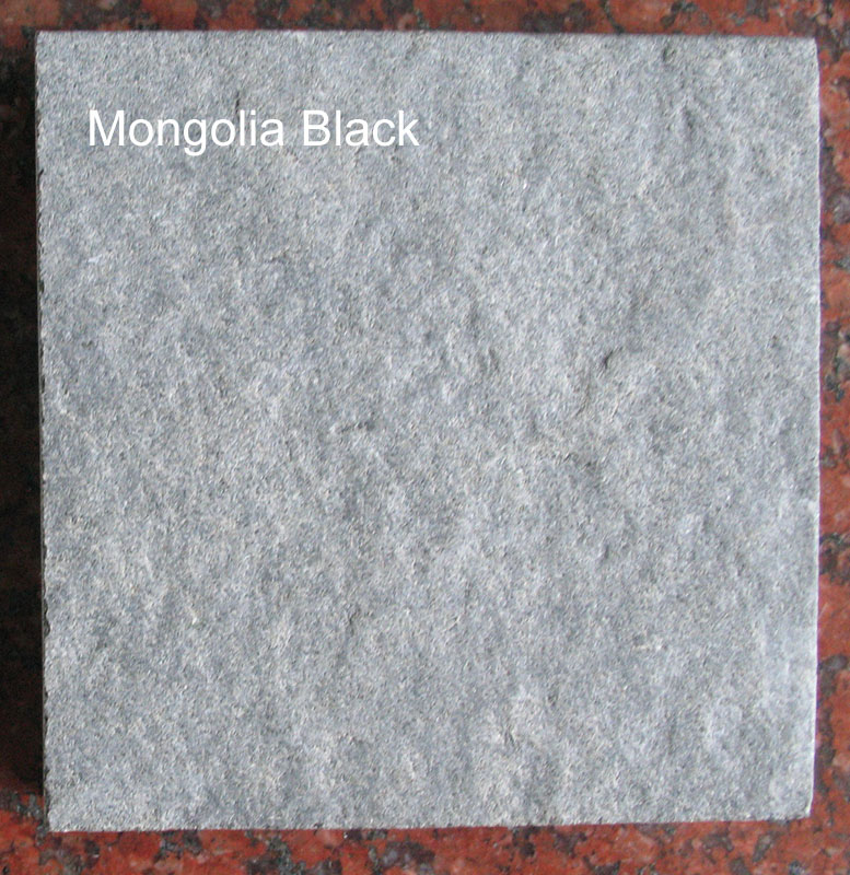 Mongolia Black Flamed Granite Stone Tiles