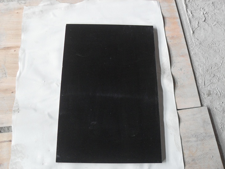 Mongolia Black Granite Tiles Polished Granite Tiles