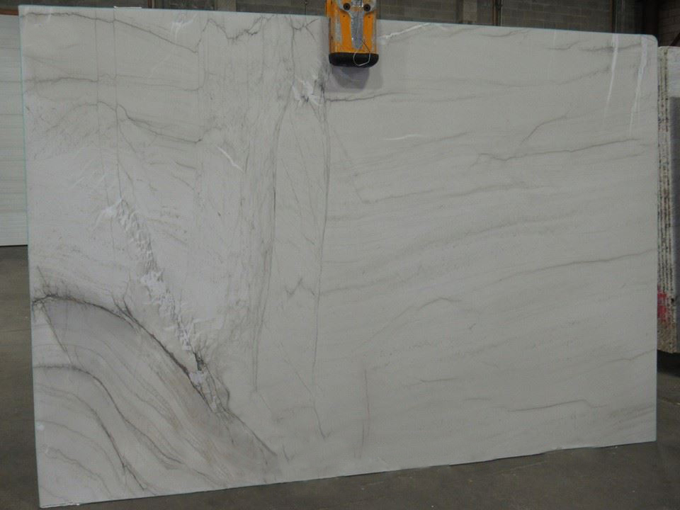 Mont Blanc Brazilian Polished White Quartzite Slabs