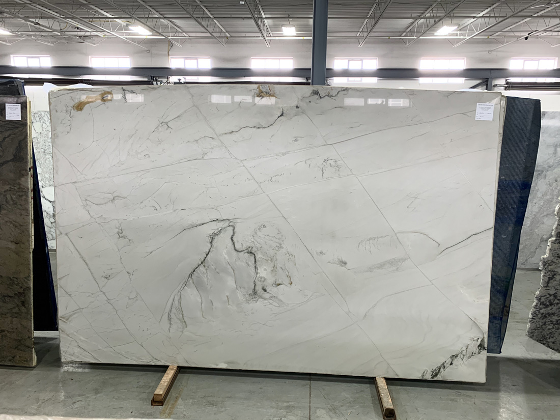 Monte Blanc Quartzite Slabs Polished White Premium Marble Slabs for Countertops