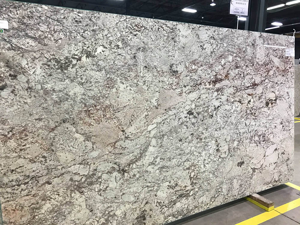 Monte Carlo Bordeaux Granite Slab for Kitchen Countertops