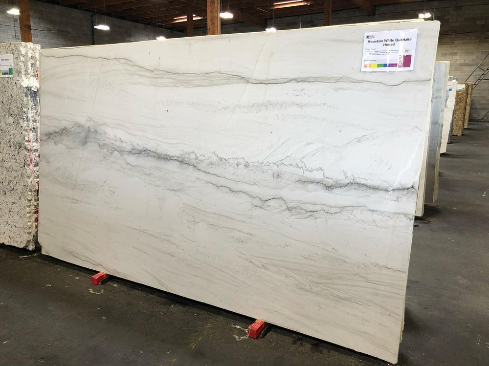 Mountain White Honed Quartzite Slabs Brazil White Quartzite