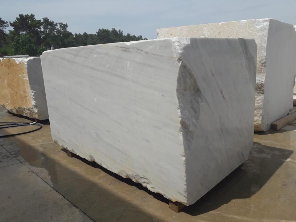 Mugla White Block White Marble Stone Blocks