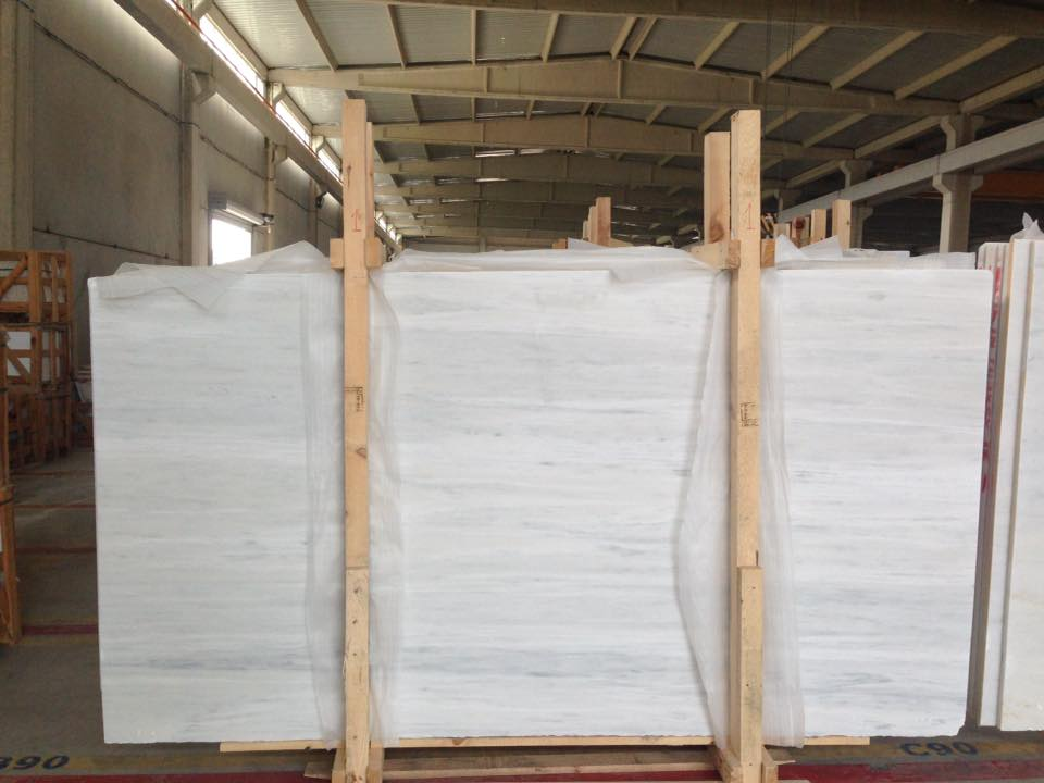 Mugla White Marble Polished Marble Slabs from Turkey