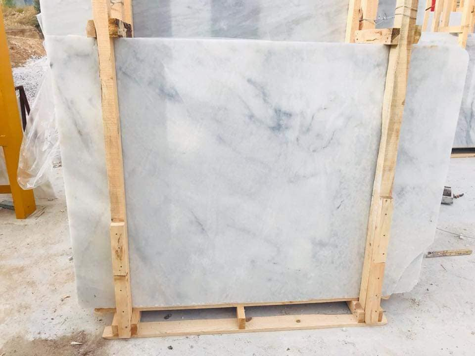 Mugla White Marble Slabs Turkish White Marble Polished Slabs