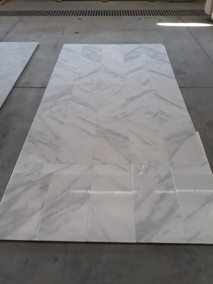 Mugla White Marble Tiles Polished White Marble Tiles for Flooring