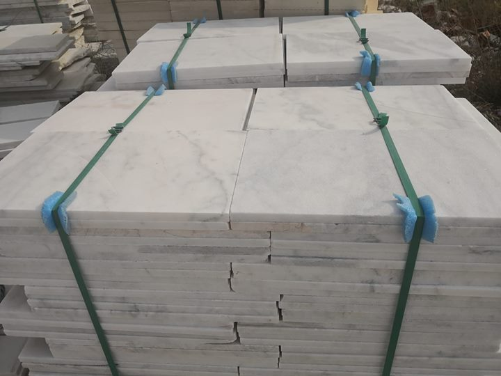 Mugla White Marble Tiles Polished White Marble Tiles