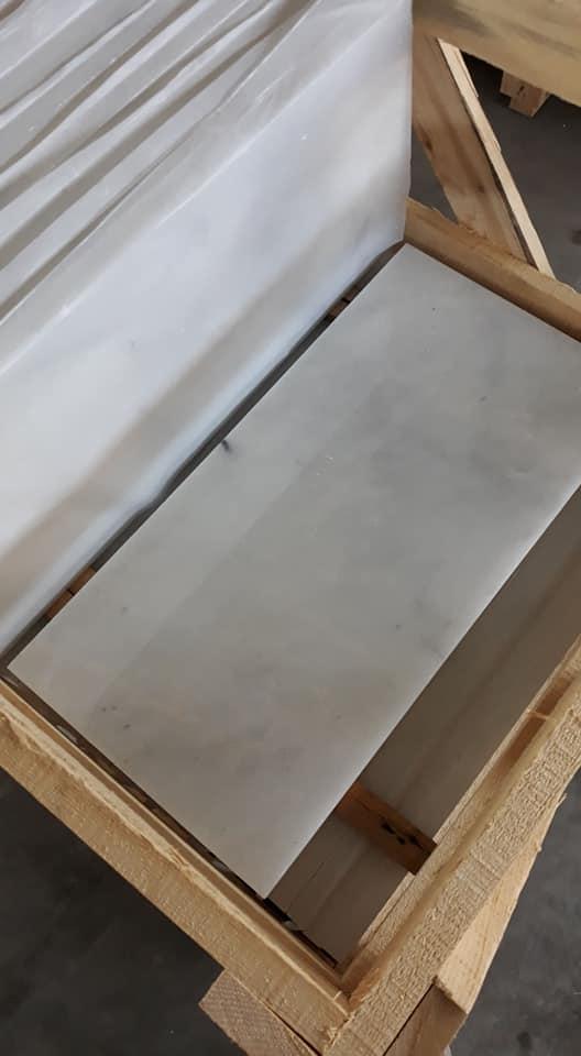 Mugla White Marble Tiles Turkish White Marble Tiles for Flooring