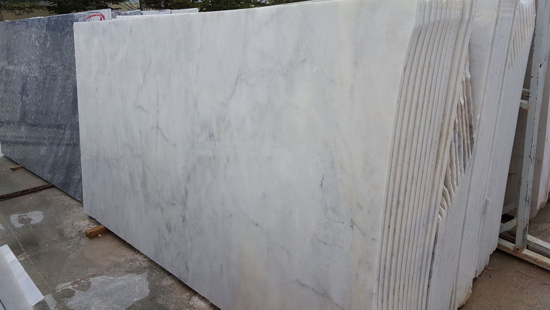 Mugla White Polished Marble Slabs Turkish White Marble