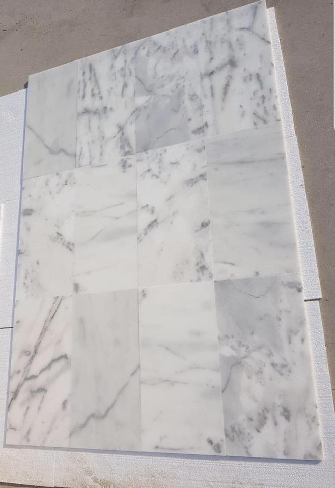 Mugla White Polished Marble Tiles for Flooring