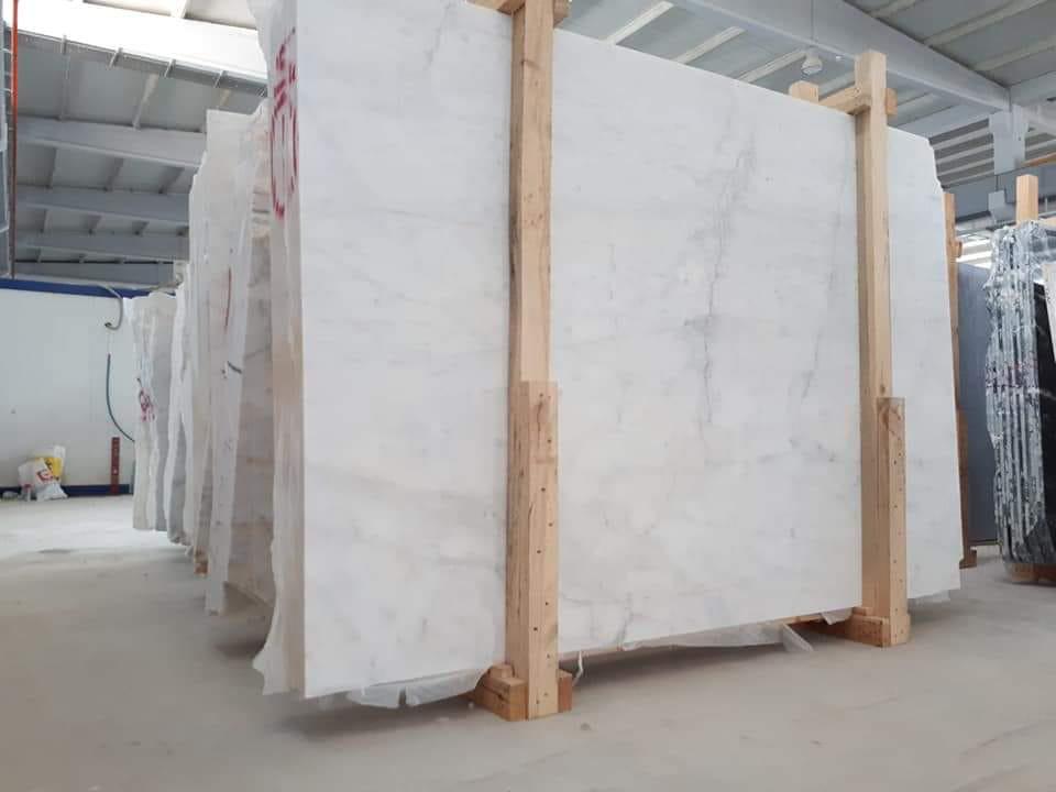 Mugla White Polished White Marble Slabs