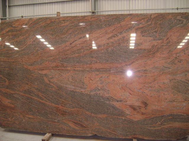 Multi Color Red Granite Indian Polished Granite Stone Slabs