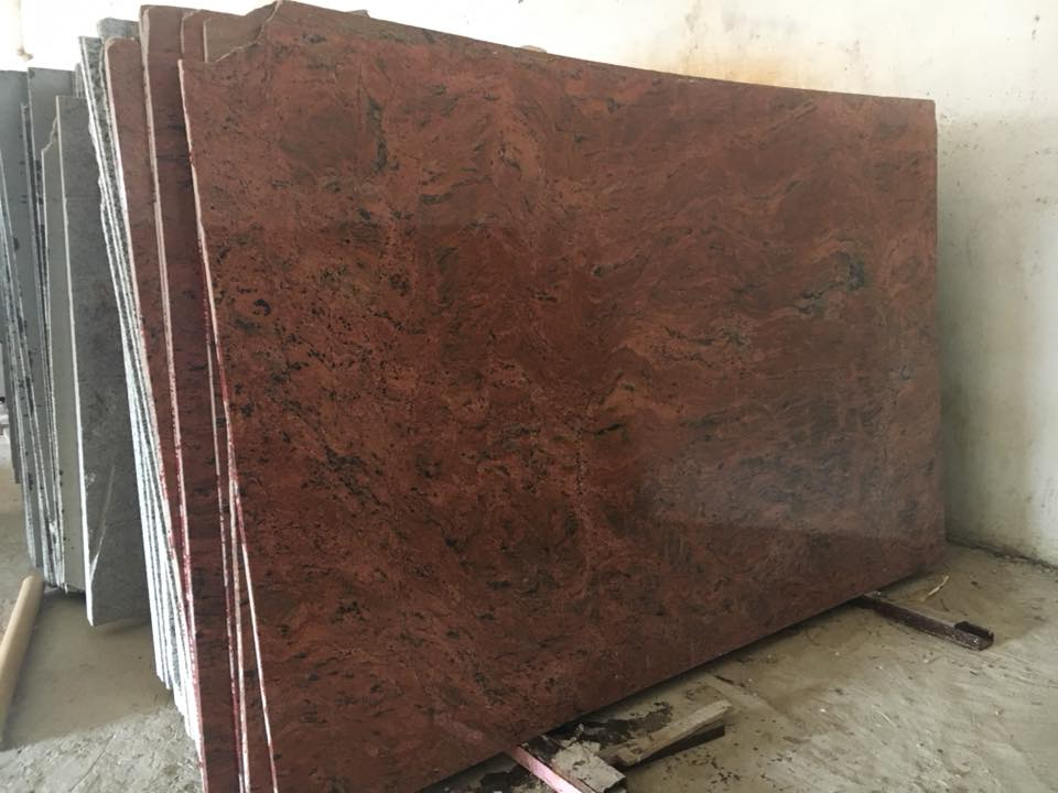 Multi Red Granite Slabs Indian Red Granite Slabs