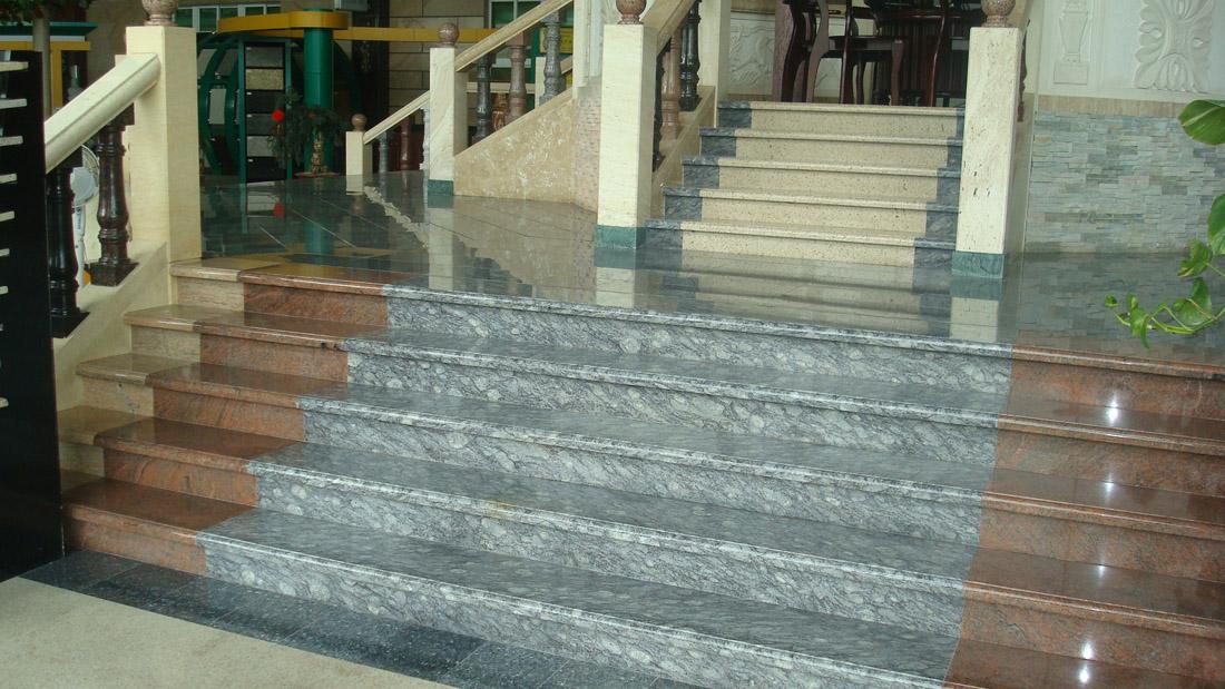 Multicolor Granite Stone Steps