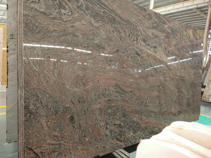 Multicolor Purple Granite Big Polished Slabs