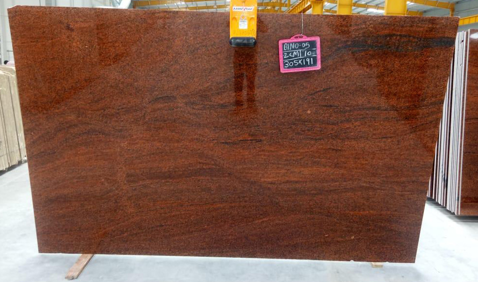 Multicolor Red Granite 2cm Slabs from India