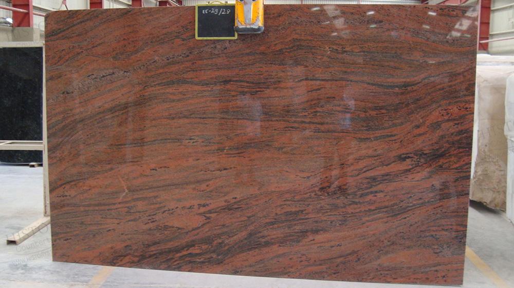 Multicolor Red Granite Slabs Indian Red Granite Slabs for Countertops