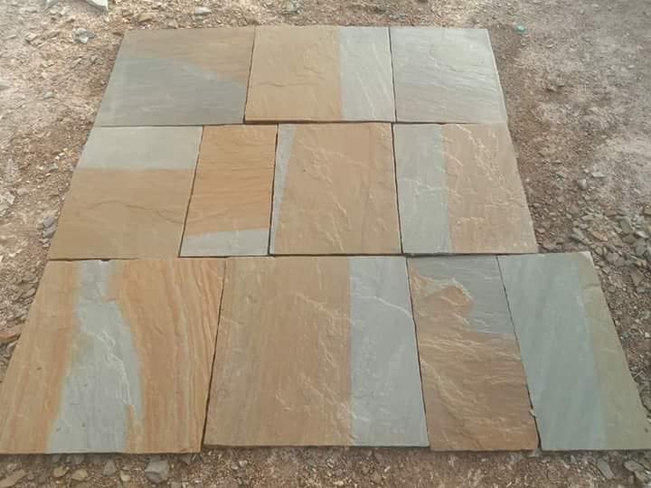 Multicolor Sandstone Tiles Paving Stone Tiles