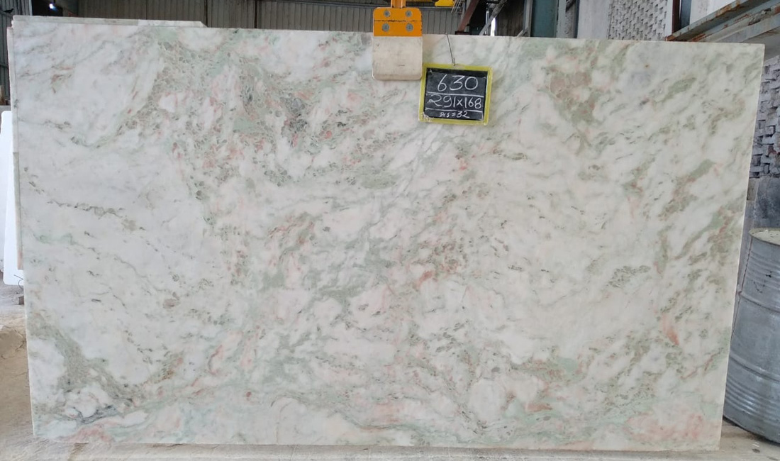 Mystic White Polished 2CM Marble Slabs