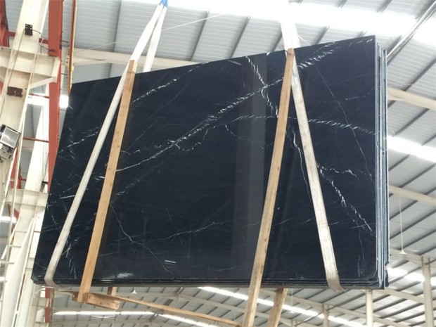 NERO MARQUINA Marble in Slabs Tiles