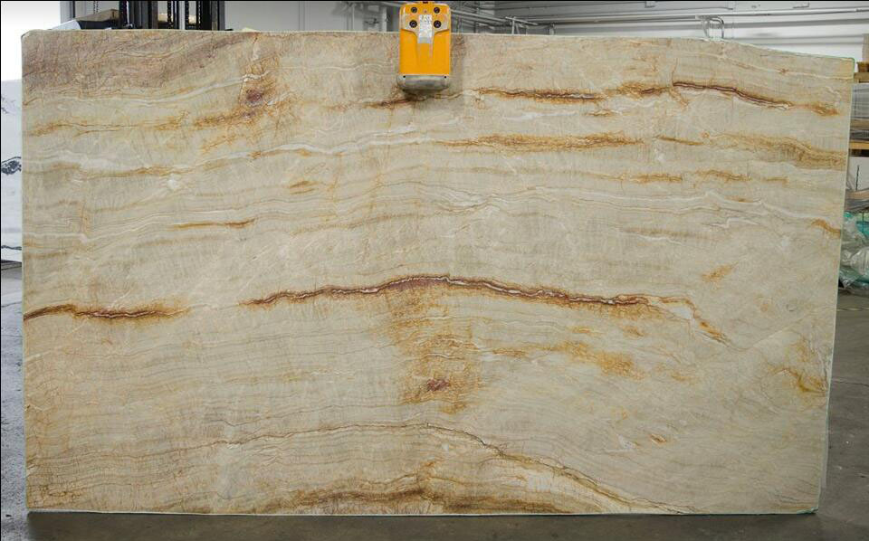 Nacarado Quartzite Beige Polished Slabs from Brazil