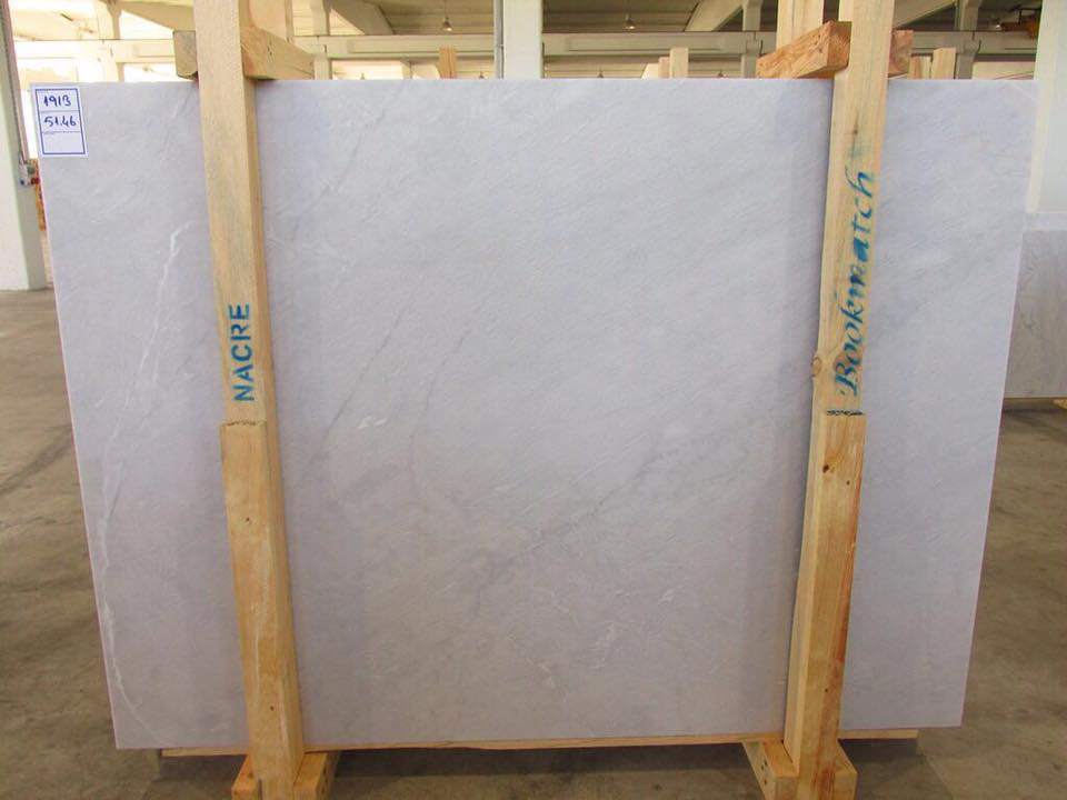 Nacre White Marble Slab Turkish White Marble Slabs