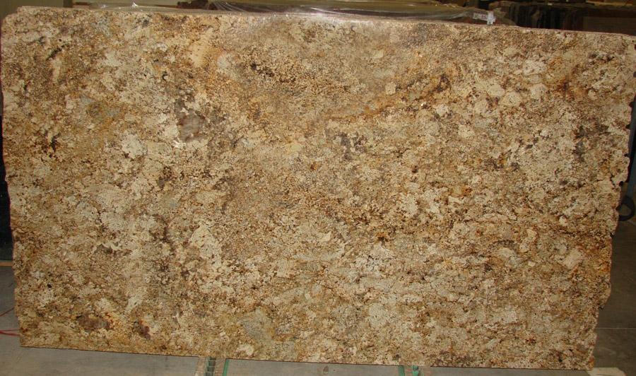 Namibian Cream Granite Slabs Polished Yellow Granite Stone Slabs