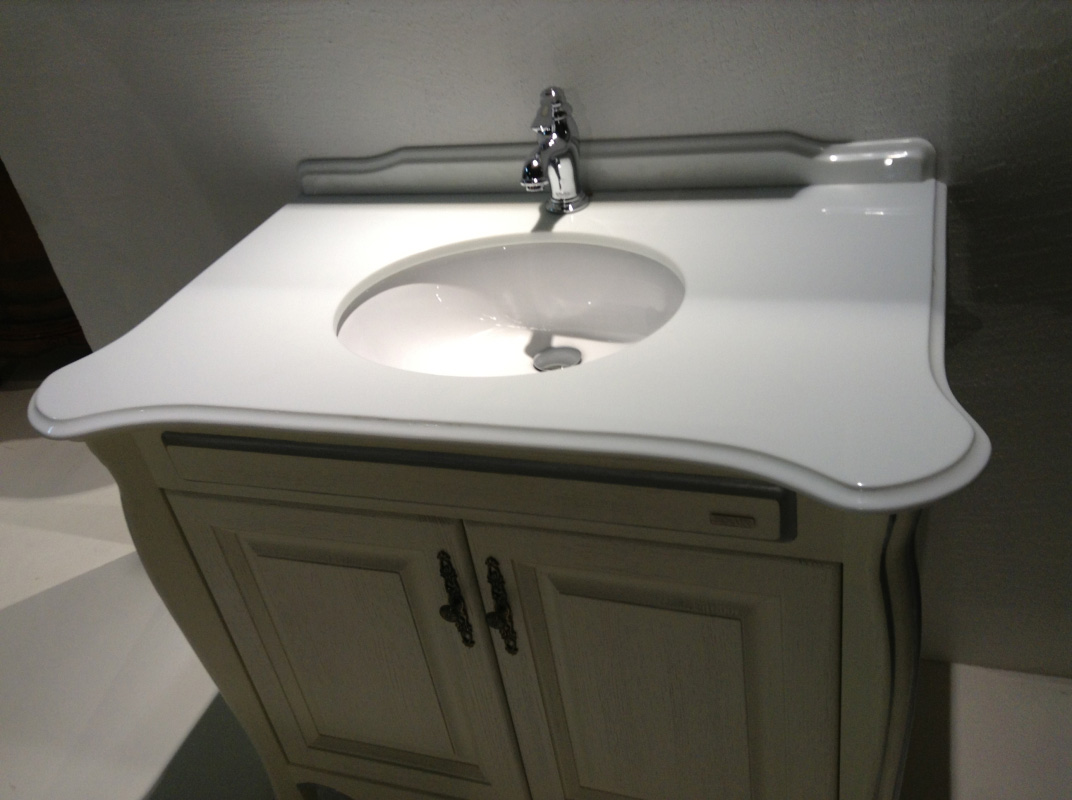 Nanoglass Bathroom White Vanity Tops