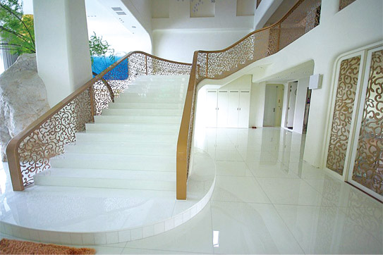 Nanoglass White Artificial Stone for Stairs